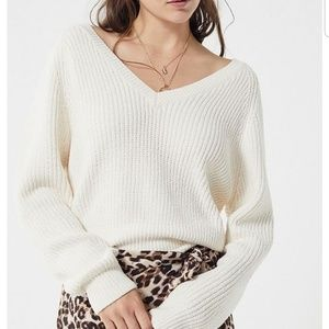 UO Cozy Chenille V-Neck Sweater Size XS
